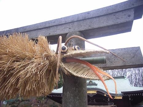 鳥居には巨大なたわし?いやいや初卯祭の藁大蛇/旧2/9・己卯