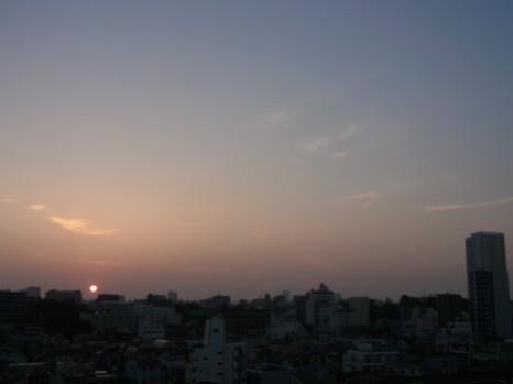 夏至の日ころの日の出4
