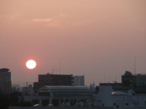 夏至のころの日の出5