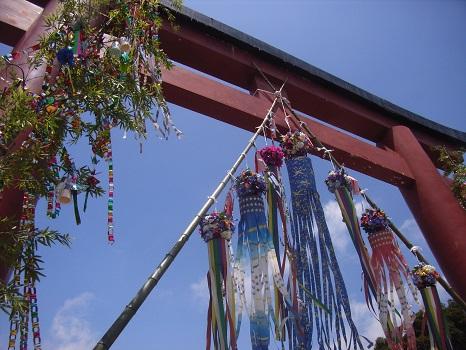 20100621八幡様の七夕飾り