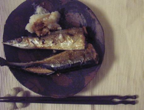 焼いた秋刀魚