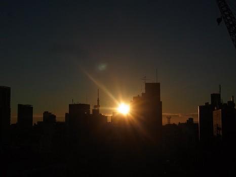2014冬至の日の出