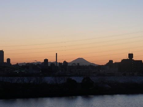 荒川からの富士