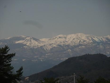 3月末の福島の山