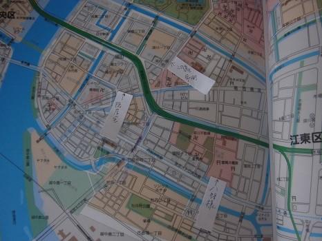 地図にポインティング