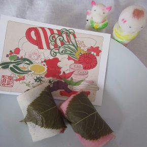 今年の雛市気分は、桜餅で?いやいや、これも、雛祭りバージョン/3/2=旧2/5・戊子