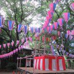 東京の盂蘭盆会は、あっという間に過ぎゆきて…。街は盆踊りの準備です。/旧暦・閏5/23・甲辰