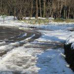 七十二候は「土脉潤起」と暦が言えば、雪解けぬかるみは「春泥」と思い出す。今冬は東京でもそれ風があったしね。/旧暦1/5・癸未