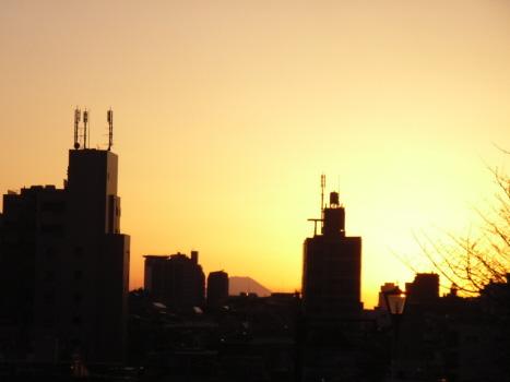 富士見坂の富士