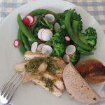 今年は、いまだ春野菜少ない感じですが、思い切って「春の皿には緑も盛れ」!/旧暦2/3・庚戌
