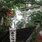 今日は、お富士さんの開山式。遠くにそびえる霊峰富士に併せて、近所の富士塚もお山開きです。/旧暦5/18・甲午