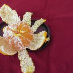 ひと足早い冬みかん。青いの⇒ほんのり黄色と変化を眺め、オレンジ色をGET!ああ、食べ比べるべきだったぁ(;O;)/旧暦10/14・丁巳