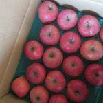 福島からりんご着。さあこれでしばし、日々のフルーツはフジりんご一辺倒に😊。/旧暦11/5・丁丑