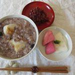 昨日「十四日年越し」で、今日は「小正月」。この年越しは、「小豆粥」にてささやかに祝います。/旧暦12/10・壬子