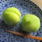 天神さんで青梅見たら、やっぱ食べたくなりますよねぇ~。ってことで、和菓子の「青梅」いただきまスッ!(^^)!/旧暦4/18・己未