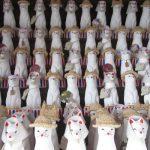 浅草神社の奥にいらっしゃる被官稲荷神社。通りすがりにお参りしたら…ひゃっ!「狐のお姿」も夏姿に(*'▽')。/旧暦6/18・戊午
