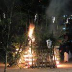 今日は「駒込富士」の鎮火祭。大きなかがり火を焚いて、カミサマに奉納、霊峰富士の閉山式に併せ、こちらも山を閉じます。/旧暦7/28・丁酉