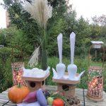 今日は「中秋の名月」。昨夜は向島百花園にて「お供え式」。今宵は、窓辺にお供え用意して、月の出を眺めて過ごします(*'▽')。/旧暦8/15・癸丑