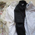 今日は「シャツの日」。朝からシャツにアイロンかけて…と、気つけば、おおむね半袖シャツでした。ああ「衣更え」は遠し。/旧暦9/9・丁丑