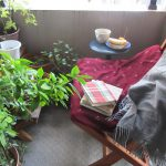 「秋晴れの日」再来!ってことで我が家のベランダのカフェ「猫の額」にて、しばし空眺めながら読書の日々を(*'▽')。/旧暦9/9・辛丑