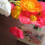 温かな日が続き、あちらの垣根、こちらの植え込みに花咲き始め。我が家にも春の花をと、珍しく芥子の花を買ってみました(*'▽')。/旧暦1/15・乙巳