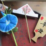 今年も浅草寺「四万六千日」のお参り。「雷守」も授与いただきましたっ!「朝顔守」とともにしばし飾る(*'▽')/旧暦6/1・己未・新月