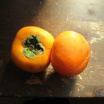 東京の青果店&スーパーでもフルーツの旬は柿!!いゃあ、待ちかねたよ!やっと買えました初物の柿(*'▽')/旧暦8/29・丙戌